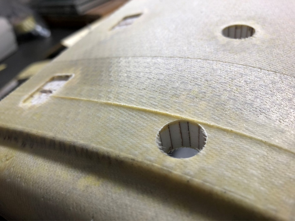 Rückseite eines Bauteils aus Composite